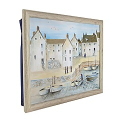 Creative Tops - Blue Cornish harbour motif lap tray