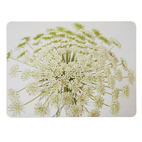 Inspire - Pack of six rectangular parsley motif place mats
