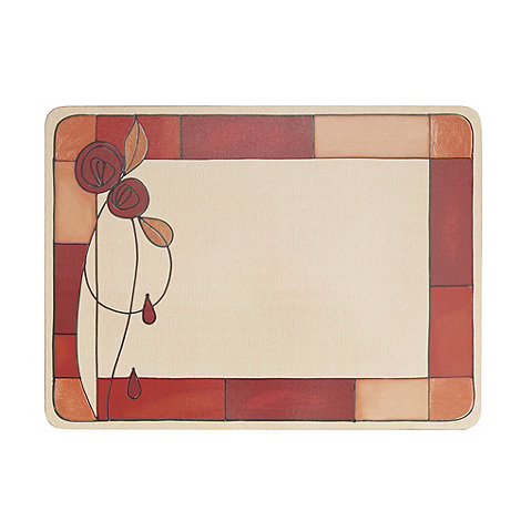 Inspire - Set of six red rose placemats