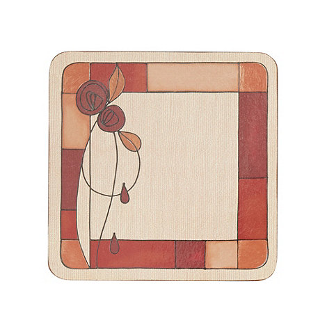 Inspire - Set of six red rose coasters
