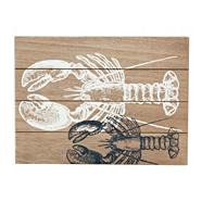 Set of two designer wooden 'Coastal' rectangular place mats