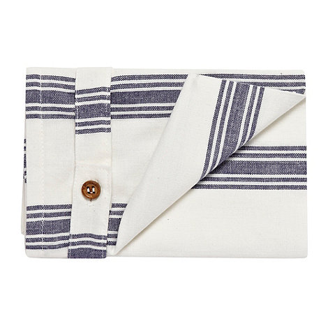 Debenhams - Set of two cotton striped napkins