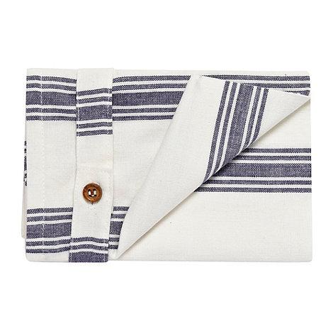 Debenhams - Set of two cotton striped napkins