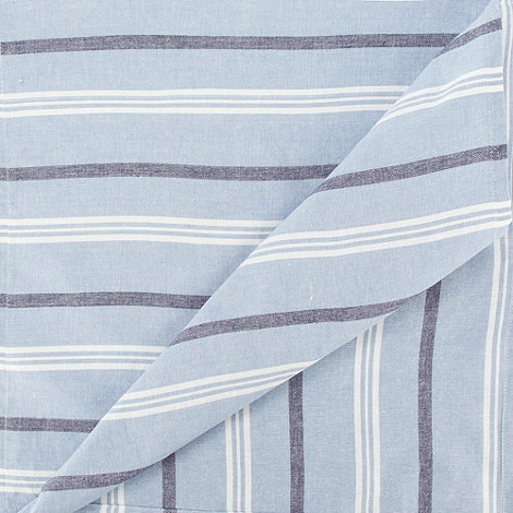 Debenhams - Set of two light blue +Coastal+ chambray napkins