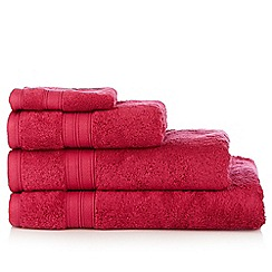 Debenhams - Bright red Egyptian cotton towels
