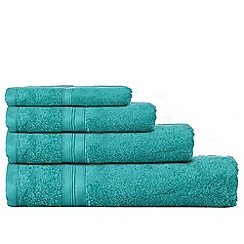 Home Collection - Bright turquoise Egyptian cotton towels