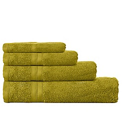 Debenhams - Green Egyptian cotton towels