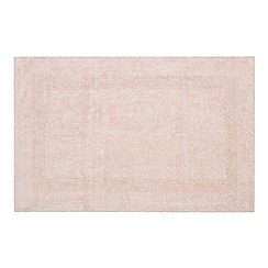 Home Collection - Light pink reversible cotton bathmat
