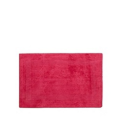 Home Collection - Dark pink reversible cotton bathmat