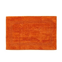 Home Collection - Orange luxury reversible bath mat