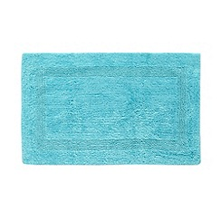 Home Collection - Bright turquoise reversible luxury cotton bathmat