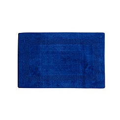 Home Collection - Royal blue reversible luxury cotton bathmat