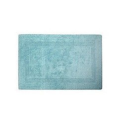 Home Collection - Light blue reversible luxury cotton bathmat