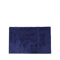 Home Collection - Dark blue reversible cotton bathmat