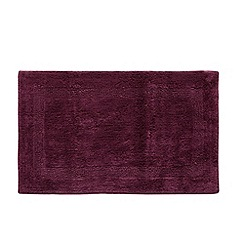 Home Collection - Dark purple reversible bath mat