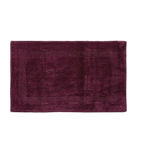 Home Collection Dark Purple Reversible Bath Mat Debenhams