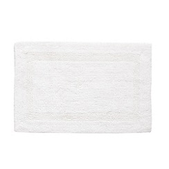 Home Collection - White luxury reversible bath mat