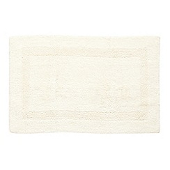 Home Collection - Cream luxury reversible bath mat