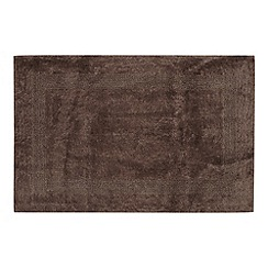 Home Collection - Chocolate reversible cotton bathmat