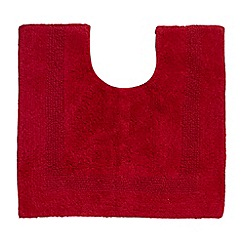 Home Collection - Red reversible luxury cotton pedestal mat