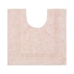 Home Collection - Light pink reversible cotton pedestal mat