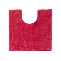 Home Collection - Dark pink reversible cotton pedestal mat
