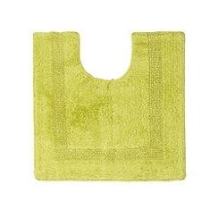 Home Collection - Green reversible cotton pedestal mat