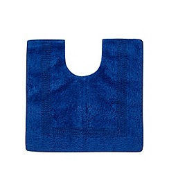 Home Collection - Royal blue reversible luxury cotton pedestal mat