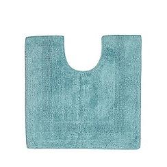 Home Collection - Light blue reversible luxury cotton pedestal mat