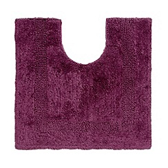 Home Collection - Dark purple pedestal bath mat