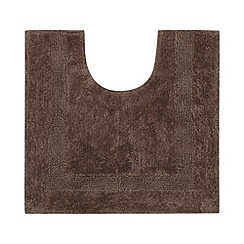 Home Collection - Chocolate reversible cotton pedestal mat
