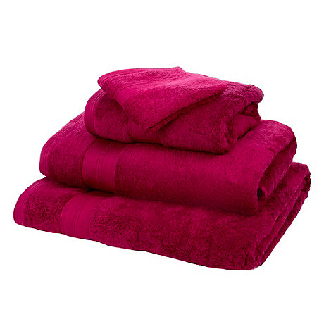 Home Collection - Bright pink Egyptian cotton towels