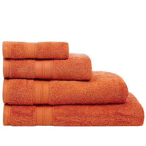 Home Collection - Orange Egyptian cotton towel
