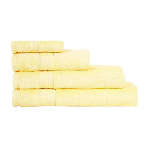 Home Collection - Light yellow Egyptian cotton towels