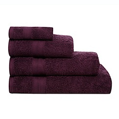 Home Collection - Dark purple Egyptian cotton towel