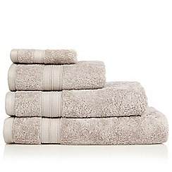 Debenhams - Silver egyptian cotton towel