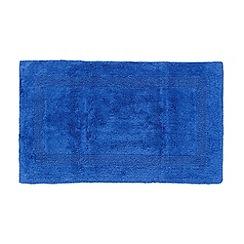 Debenhams - Royal blue reversible luxury cotton bathmat