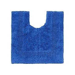 Debenhams - Royal blue reversible luxury cotton pedestal mat