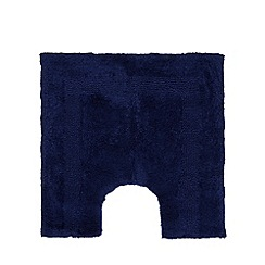 Home Collection - Dark blue reversible pedestal mat