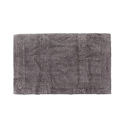 Home Collection - Grey extra large reversible cotton bathmat