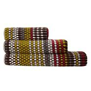 Brown dotted stripe towel