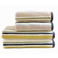 Taupe striped 'Rush' towel