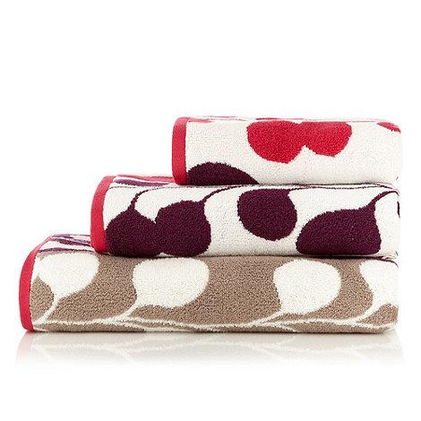 Harlequin - Pink leaf print +Pod+ cotton towels