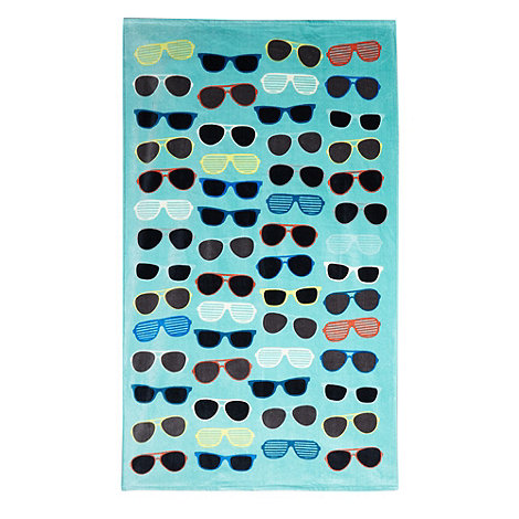 Ben de Lisi Home - Aqua sunglasses print beach towel