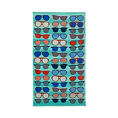 Ben de Lisi Home - Green sunglasses print beach towel