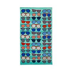 Ben de Lisi Home - Green sunglasses print beach towel