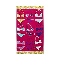 Home Collection - Pink bikini print beach towel