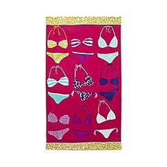 Home Collection - Pink bikini print beach towel
