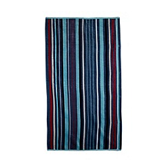 J by Jasper Conran - Navy multi-striped beach towel
