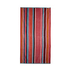 J by Jasper Conran - Coral multi-striped beach towel